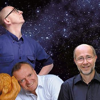 Harald Lesch, Manfred Spitzer und Gunkl auf der Suche nach Gott